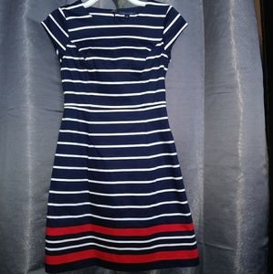 Tommy Hilfiger Navy Stripe Shift Dress size 00